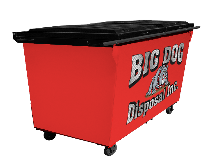 big dog disposal , 2 yard rear load dumpster