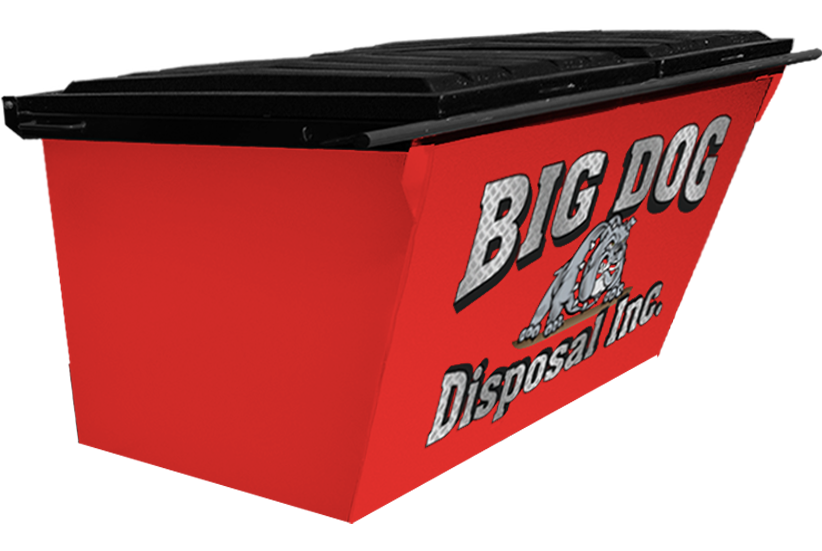 big dog disposal ,4 yard rear load dumpster
