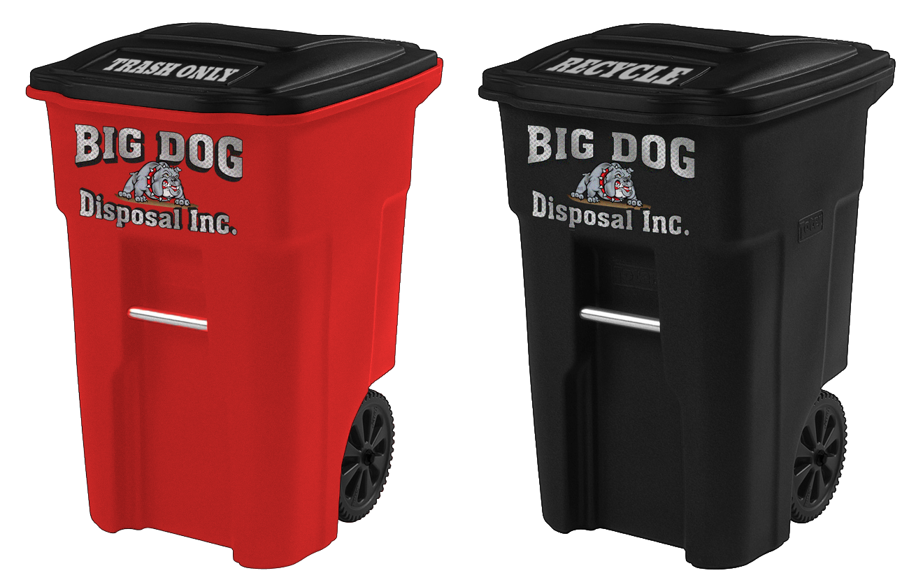 big dog disposal , 64 gallon container