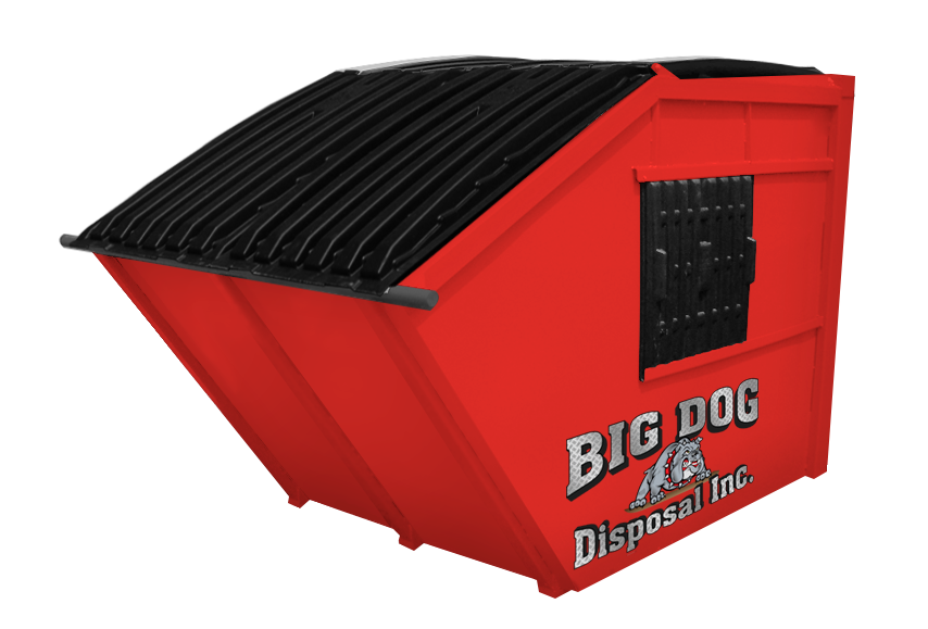 big dog disposal , 6 yard rear load dumpster