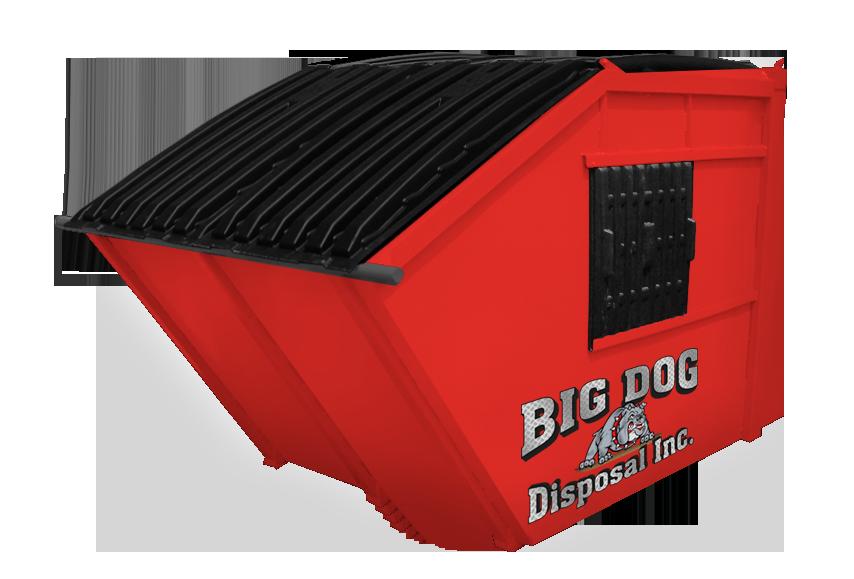 big dog disposal , 6 yard rear load dumpster