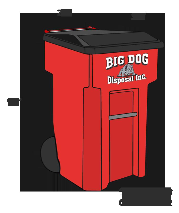 96 gallon tote container