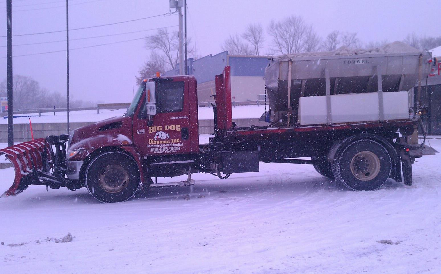 hook lift plow sander