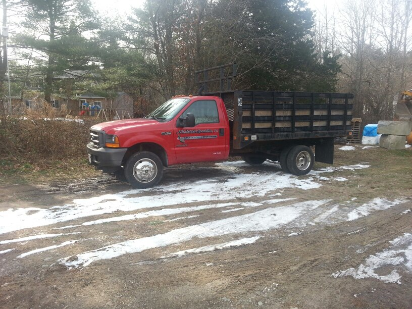 plow and hauling truck